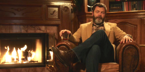 we-dare-you-to-watch-all-45-minutes-of-nick-offerman-drinking-whiskey-next-to-a-burning-yule-log